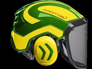 Forsthelm Protos (gelb - grün)